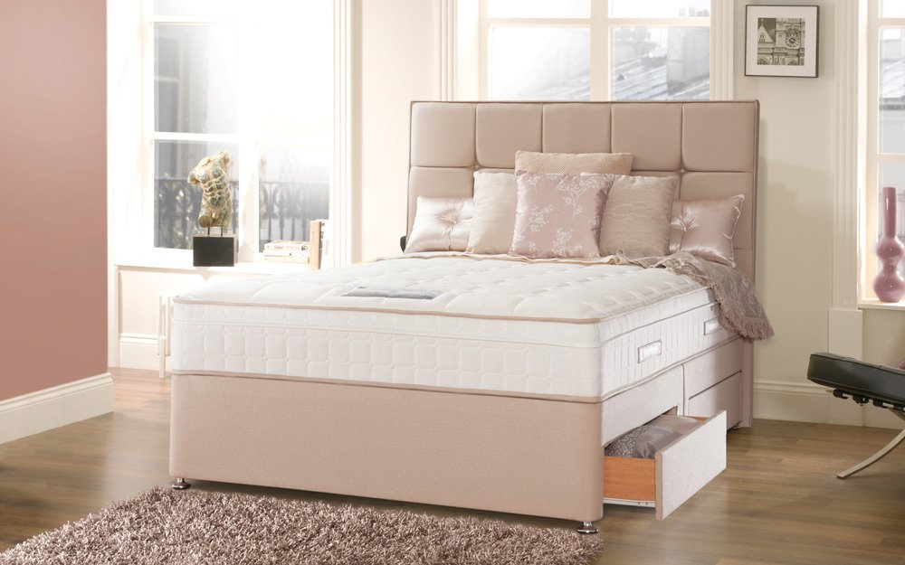 Photo of Sealy posturepedic jubilee deluxe anniversary pocket 6ft super kingsize divan bed set