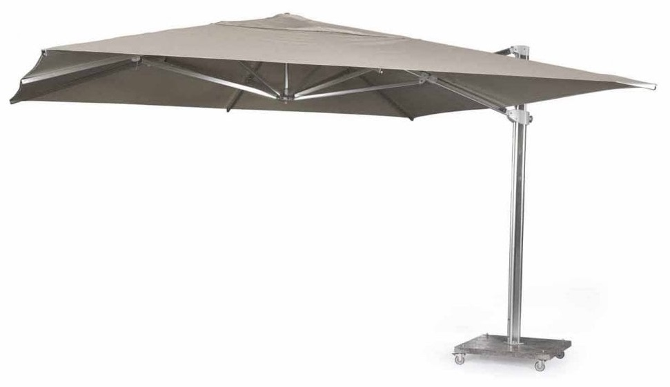 Skyline Kingston Taupe Cantiliver 4M Square Parasol With Base And Cover
