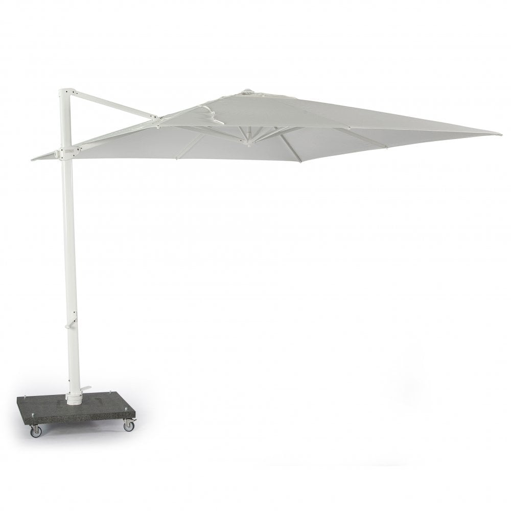 Skyline Nicosia 3m Square Cantilever Parasol With Base And Cover