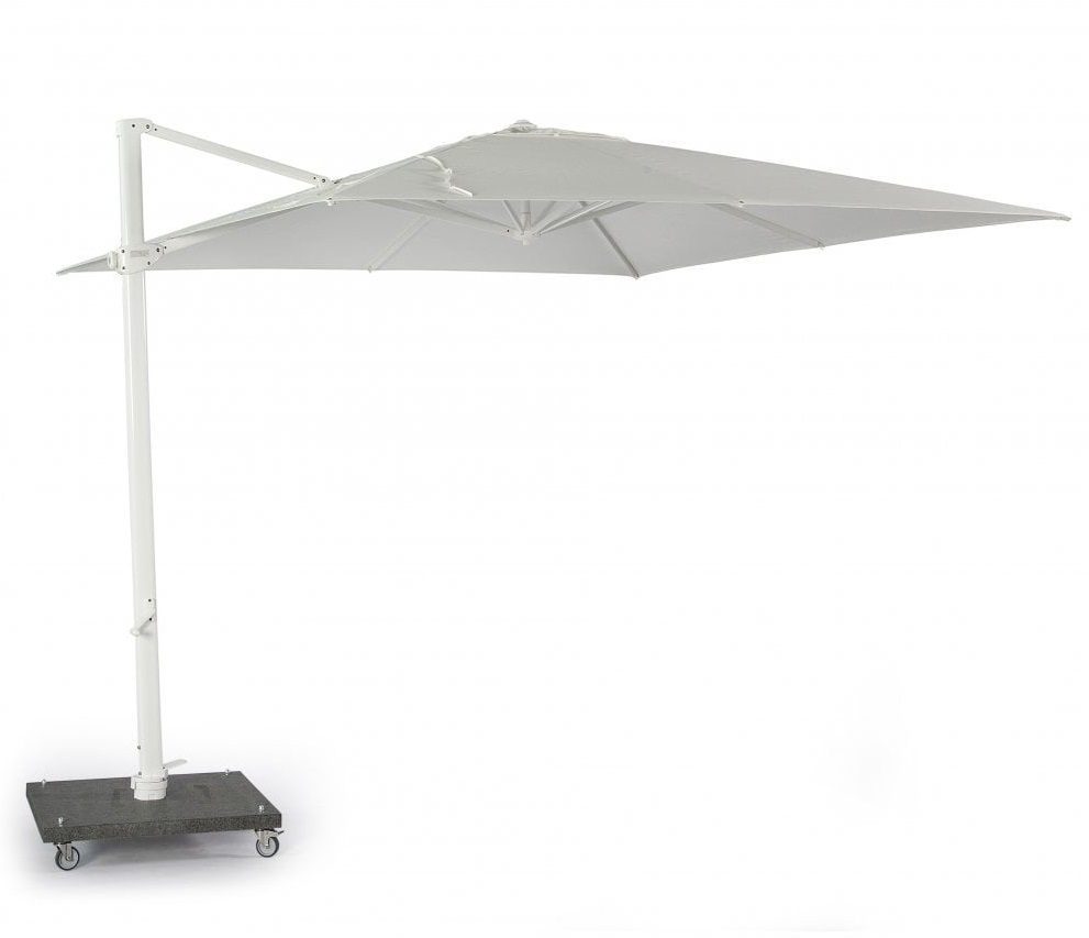 Skyline Nicosia Grey Cantiliver 3M Square Parasol With Base And Cover