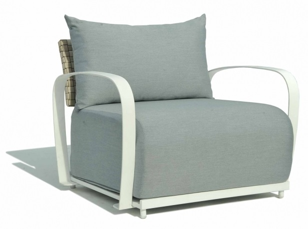 Skyline Windsor Silver Walnut Rattan Armchair