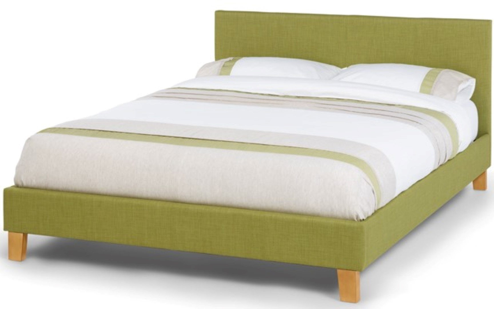 Serene Sophia 4ft Small Double Upholstered Olive Bed