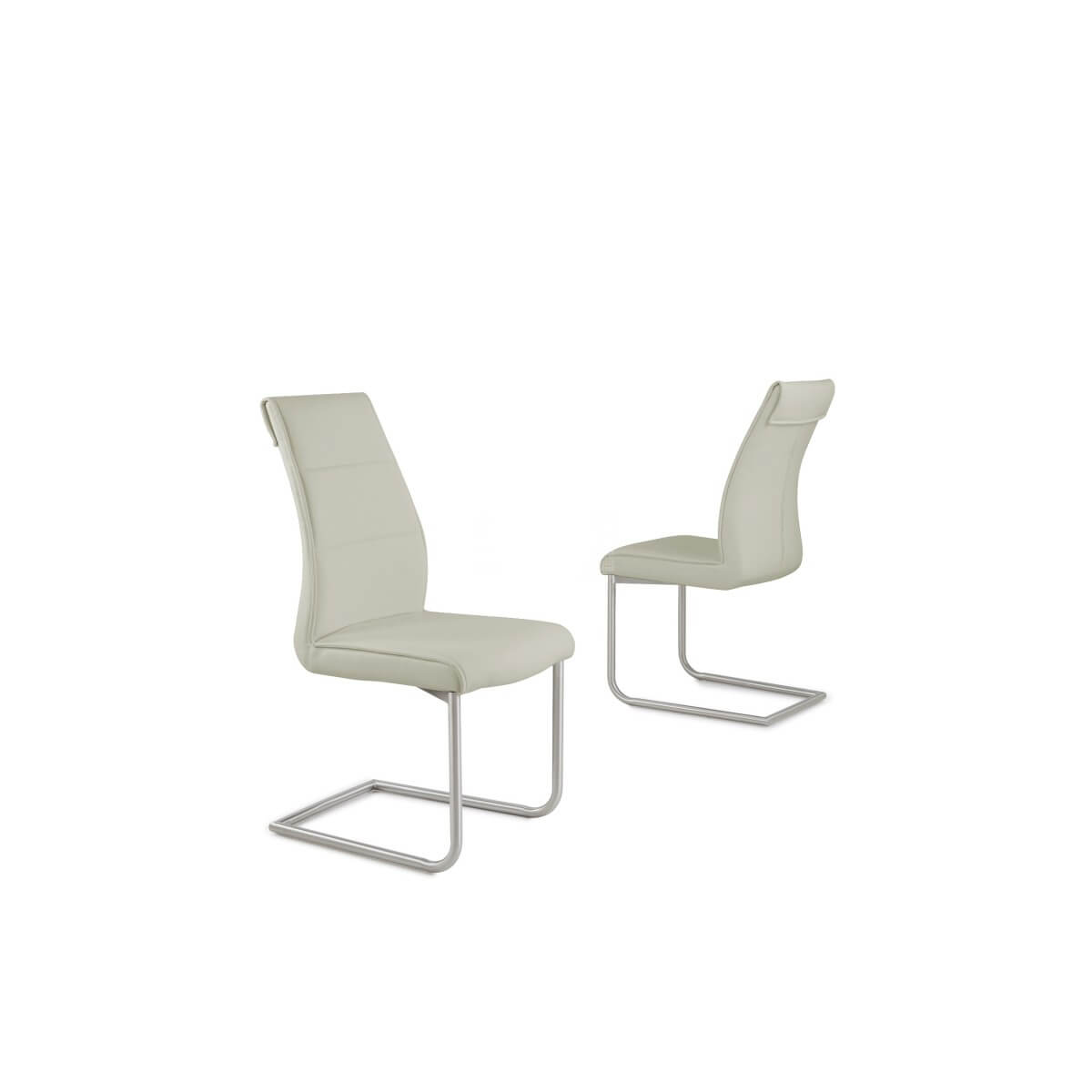 Zayno Taupe Leather Dining Chair