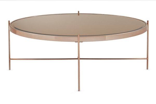 Photo of Serene taurus mirror top rose gold plated coffee table