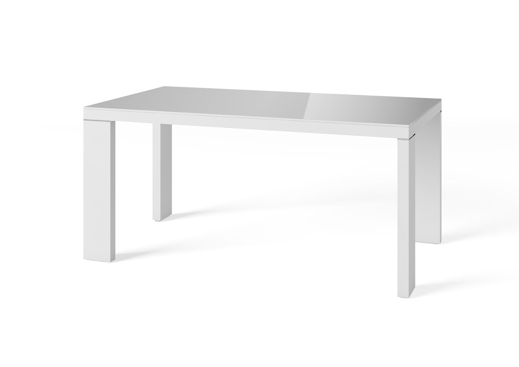 Fairmont Lucca 160cm Grey High Gloss Dining Table