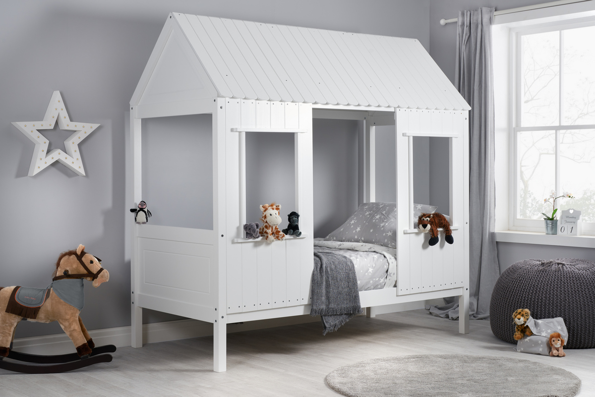 Treehouse White Wooden 3ft Single Kids Bed