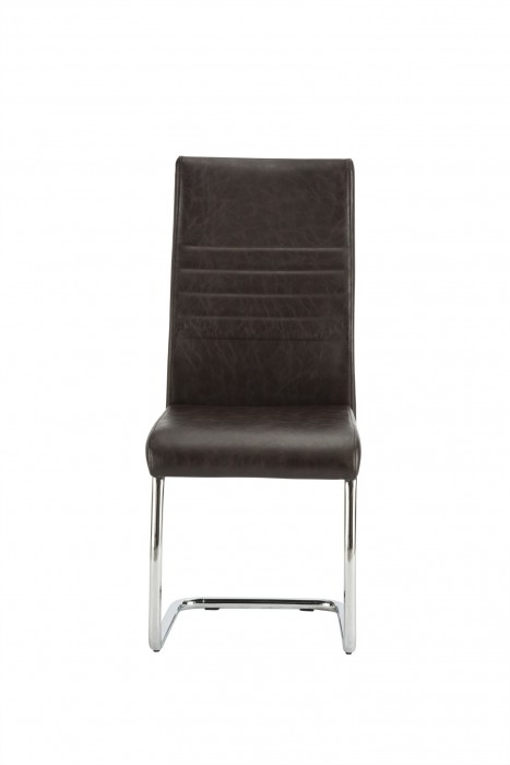 'Vittoria Brown Faux Leather Dining Chair