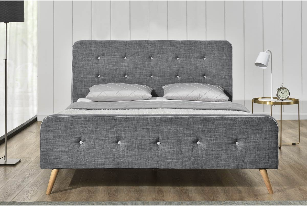 Windsor CHARCOAL FABRIC DOUBLE BED