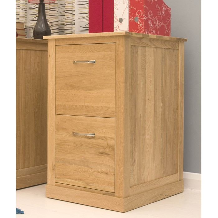 Photo of Baumhaus mobel oak two drawer filing cabinet