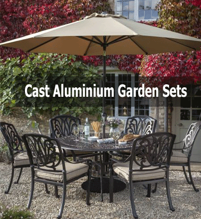 cast aluminium garden set